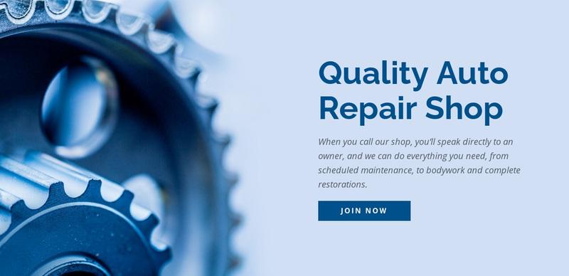 Car repair shop Web Page Design