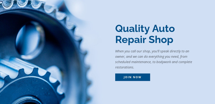 Car repair shop WordPress Theme