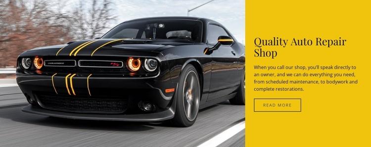 Quality auto repair shop Website Template