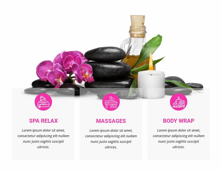 Massage and body wrap Website Mockup