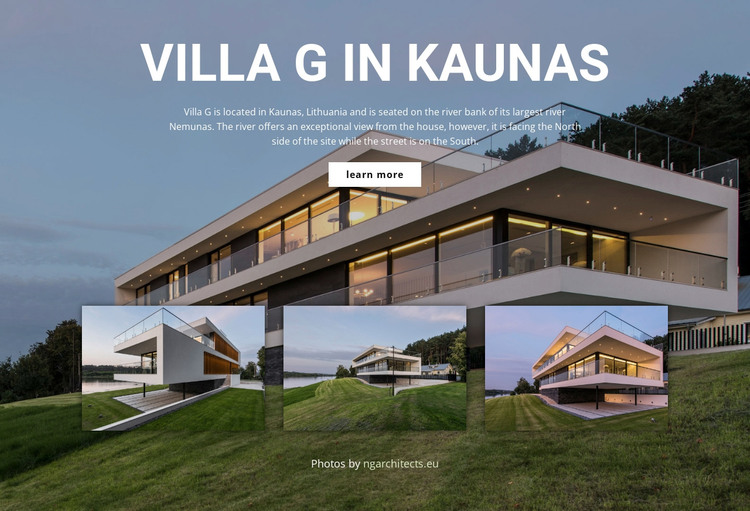 Quality modern residential design WordPress Theme