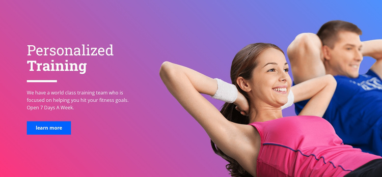 Personal fitness coach Website Template