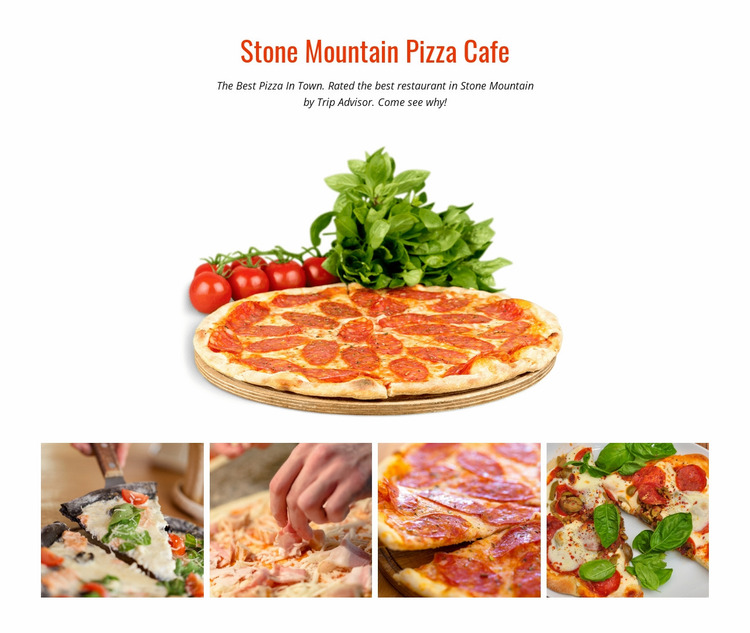 Stone Mountain Pizza Cafe Website Mockup