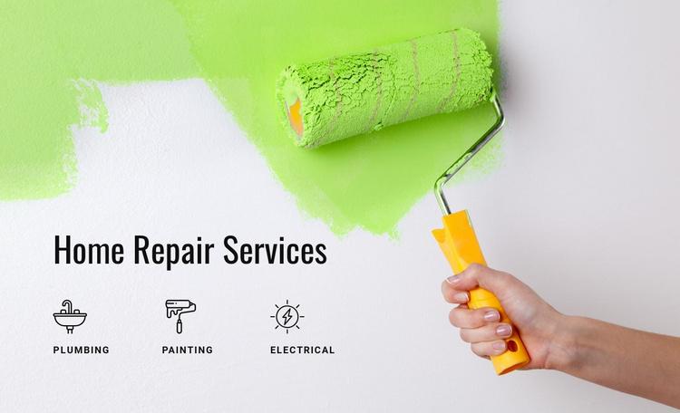 Preparing walls for painting Website Template