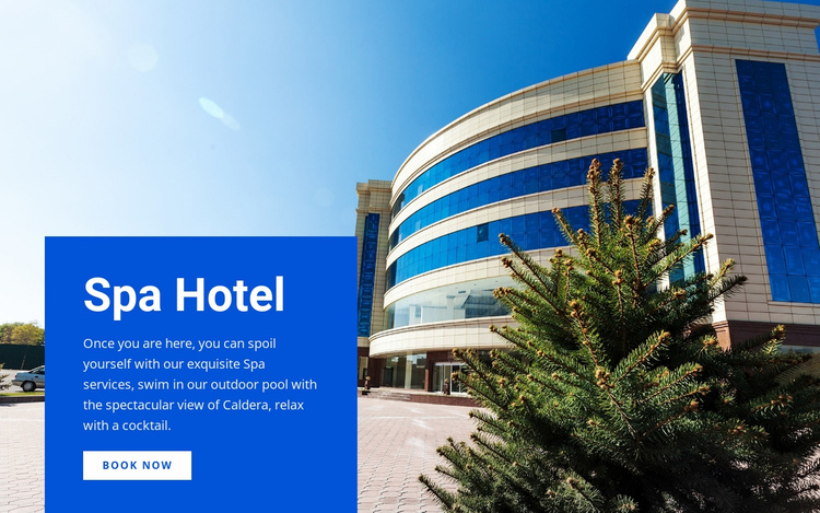 Spa relax hotel Website Template
