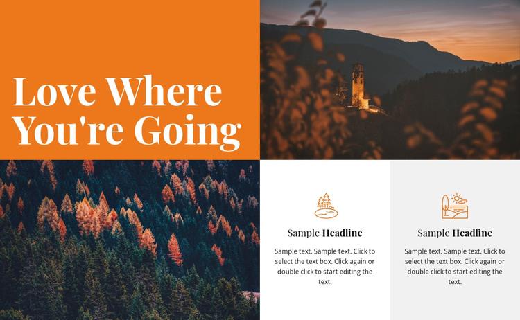Where you're going WordPress Theme