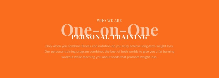 We create your personal training plan Static Site Generator