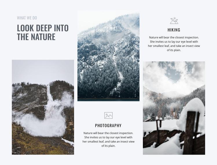 Look deep into the nature Website Builder
