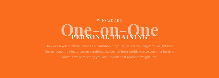 We create your personal training plan Website Builder Software