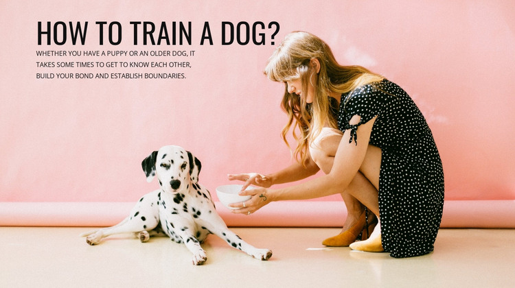 How to train a dog HTML Template