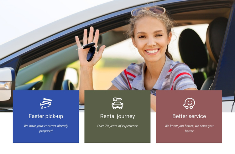 Rent your car One Page Template