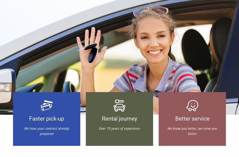 Rent your car Web Page Designer