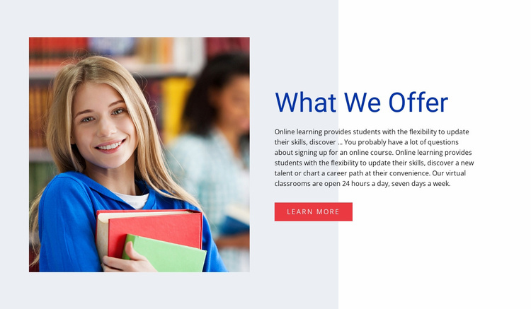 Teaching and learning Website Template