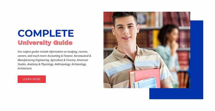 Complete university guide Website Template