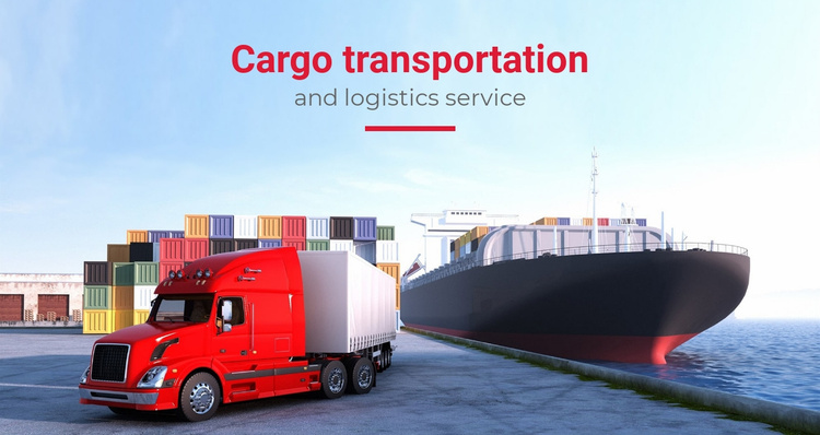 Transportation and logistics service Landing Page