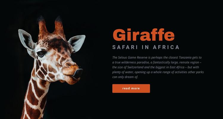 Tanzania safari 7 days HTML Template