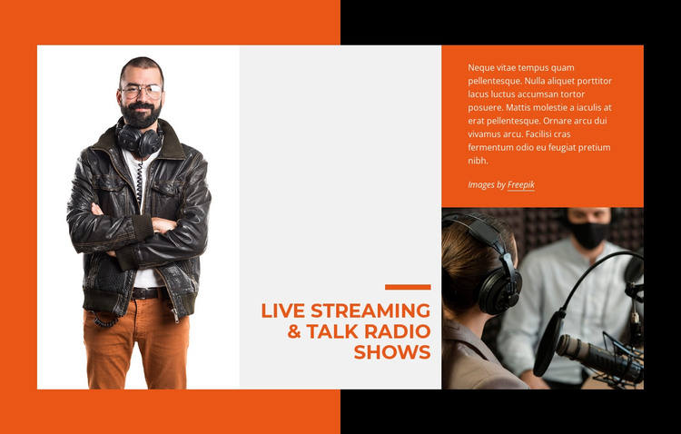 Live streaming and talk radio HTML Template