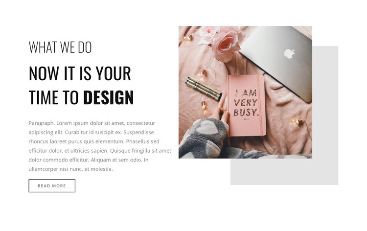 If you very busy  HTML Template