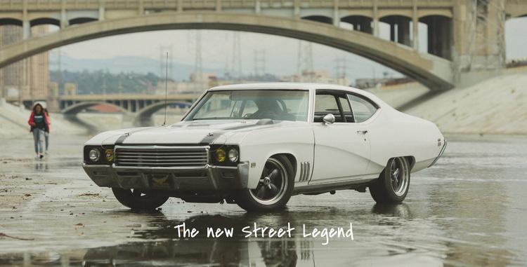 Retro cars  Website Template
