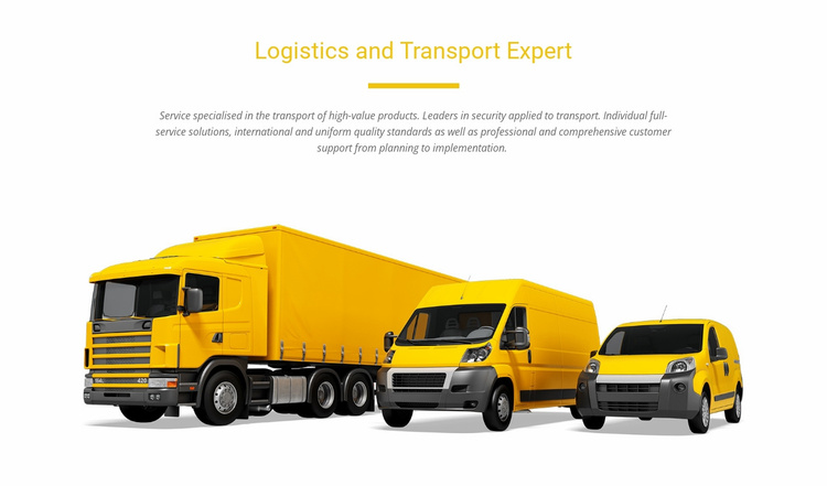 Logistics and transport expert Landing Page
