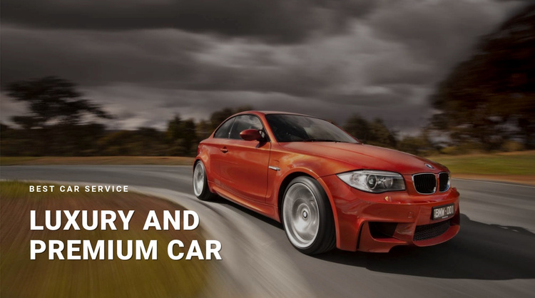 Luxury and premium car Website Template