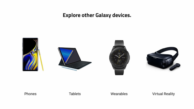 Modern devices Landing Page