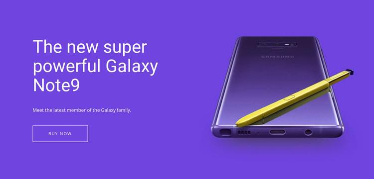 Samsung Galaxy Note WordPress Theme