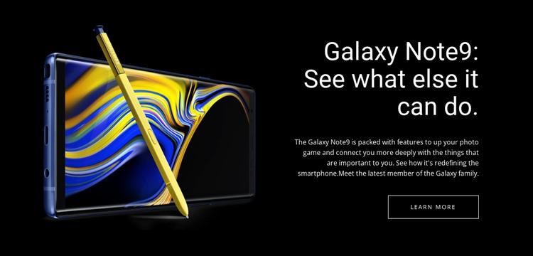 Galaxy Note Web Design