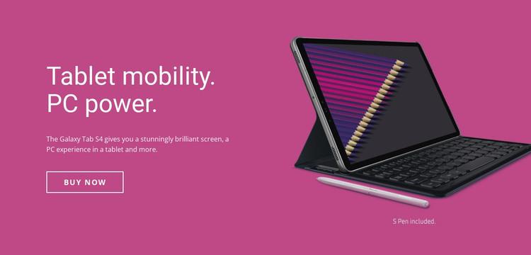 Mobile tablet solutions Web Design