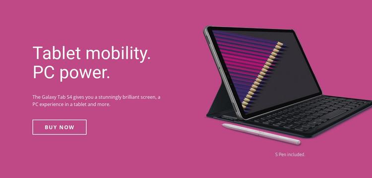 Mobile tablet solutions Website Mockup