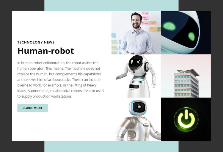 Human-robot Joomla Page Builder
