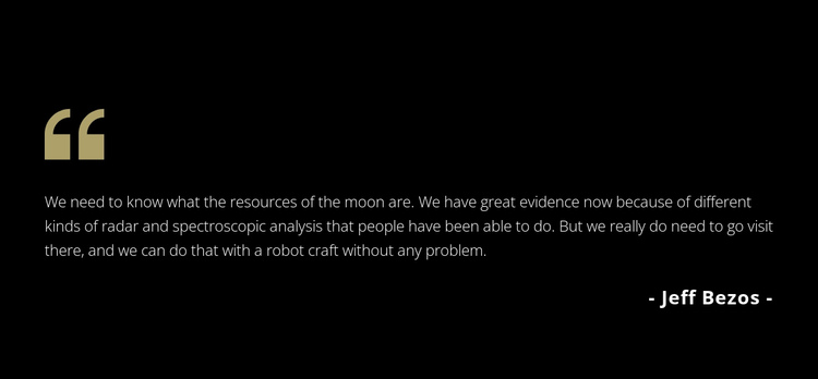 Testimonials on dark background One Page Template