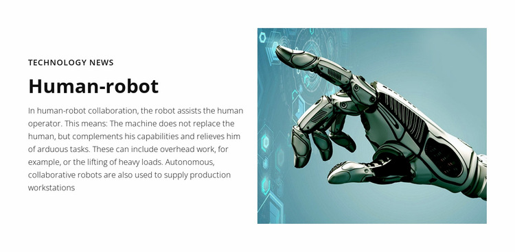 Technology news Human robot Website Builder