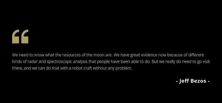 Testimonials on dark background Website Builder