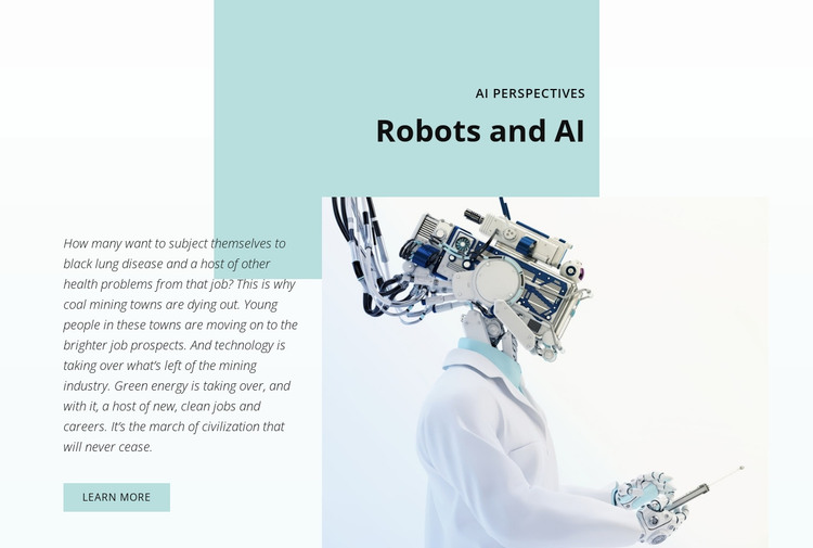 AI and the robotics revolution WordPress Theme