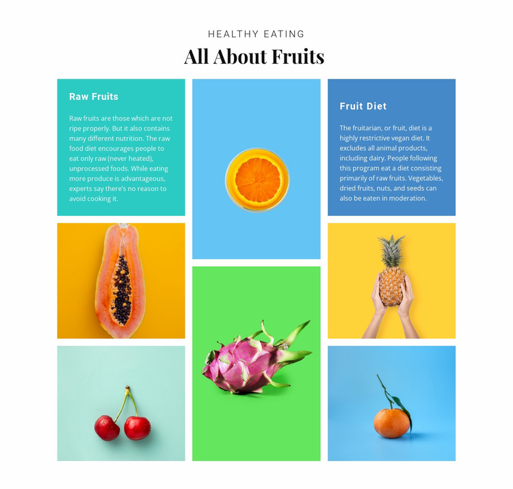 All about fruits Website Template