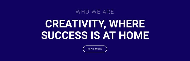 Creativity is where success is Static Site Generator