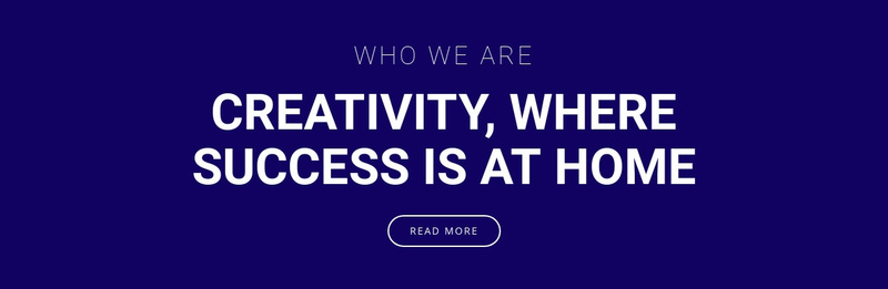 Creativity is where success is Web Page Design