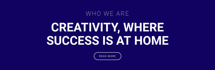Creativity is where success is Website Template