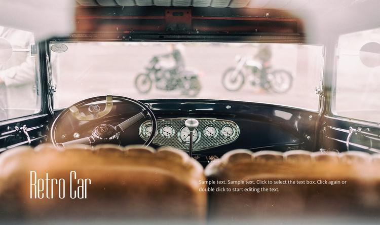 Retro car Website Template