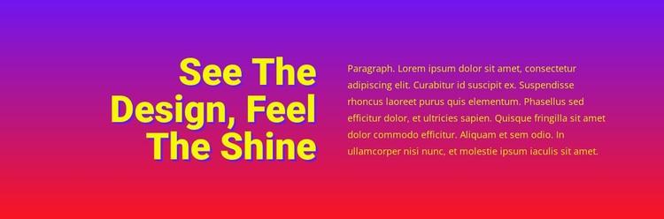 See the design feel shine Static Site Generator