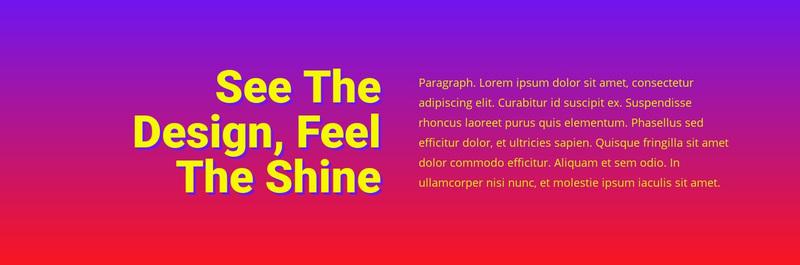 See the design feel shine Web Page Design