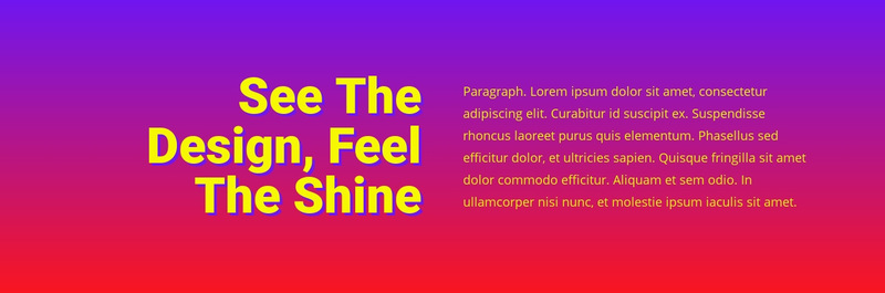 See the design feel shine Web Page Designer
