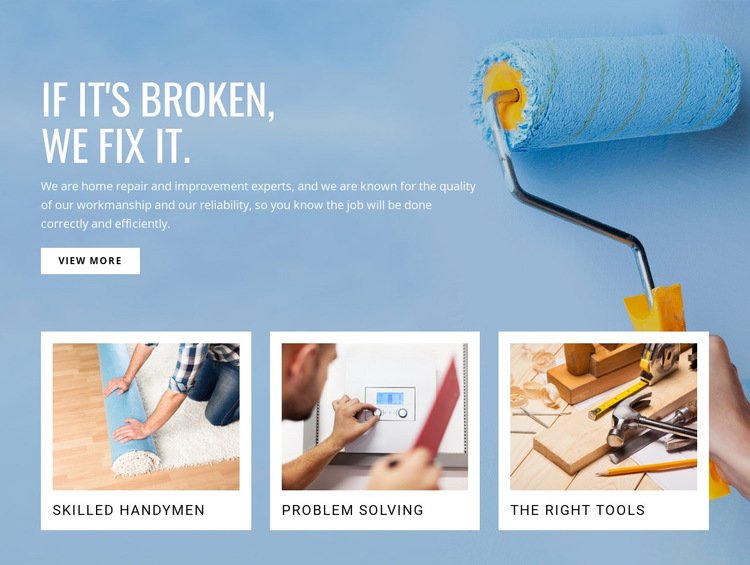 Repair drywall and finish HTML5 Template