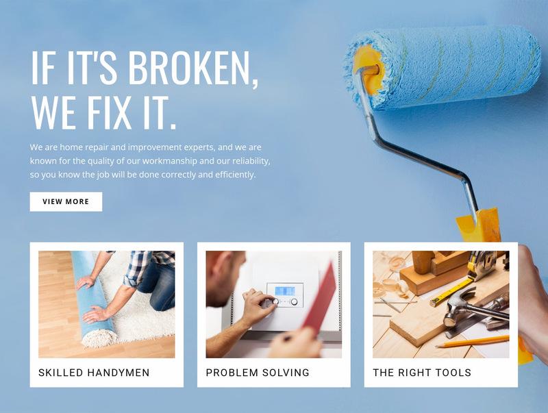 Repair drywall and finish Web Page Designer