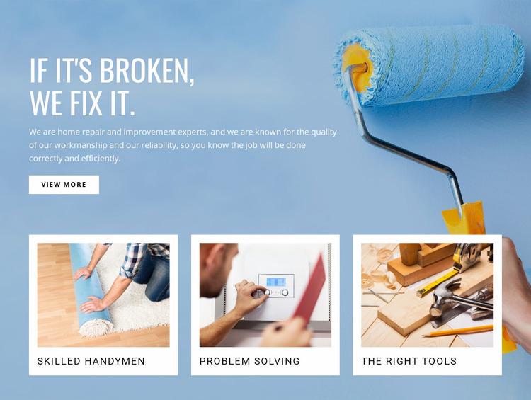 Repair drywall and finish Website Mockup