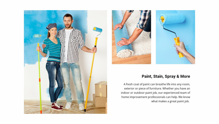 Interior painting tips Website Template