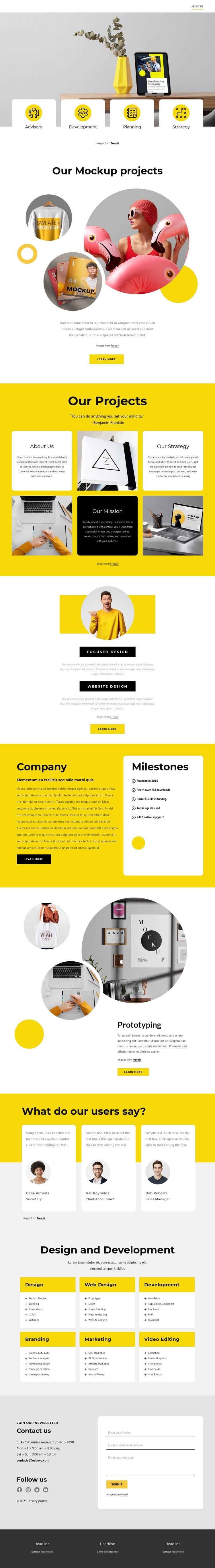 Design and branding studio Html Code Example