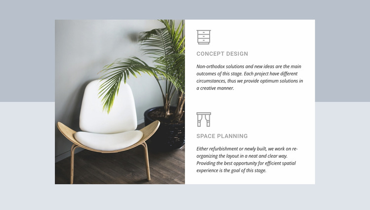 Architects and interior designers Website Mockup