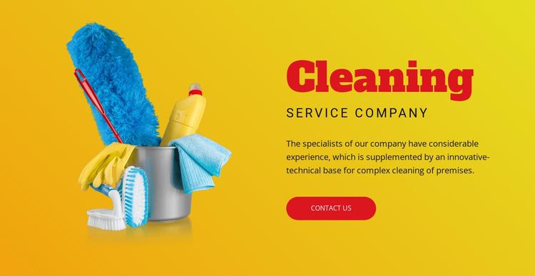 Flexible cleaning plans Joomla Template